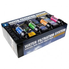 Waterfilter Sawyer Mini 4 stuks in 4 kleuren