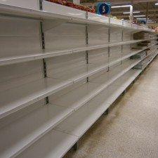 Lege supermarkten in Griekenland
